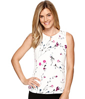 Ivanka Trump - Printed Floral Matte Jersey Top