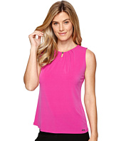 Ivanka Trump - Solid Matte Jersey Top with Bead