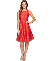 Sangria - Sleeveless Lace A-Line Dress