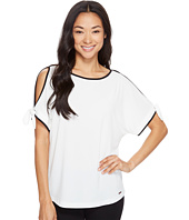 Ivanka Trump - Cold Shoulder Matte Jersey Top