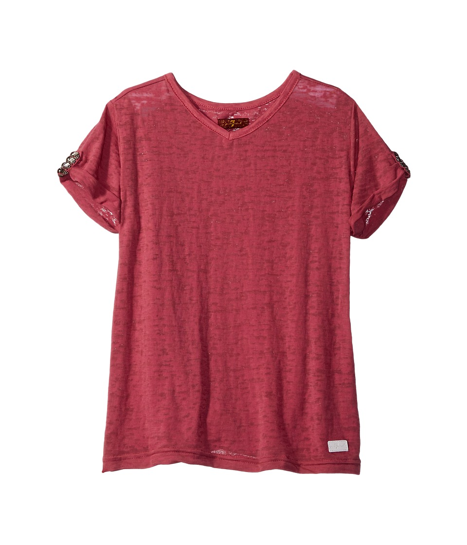 7 For All Mankind Kids - Slouchy V-Neck Tee