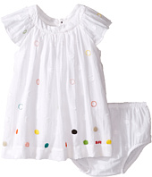 Sonia Rykiel Kids - Short Sleeve Embroidered Polka Dot Dress w/ Diaper Cover (Infant)
