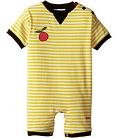 Sonia Rykiel Kids - Short Sleeve Striped Romper w/ Fruit Patch Detail (Infant)