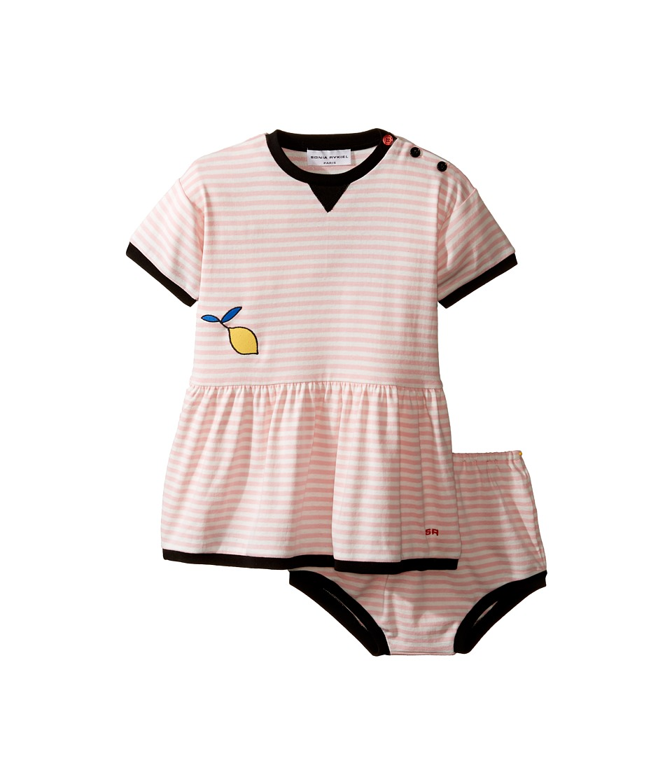 Sonia Rykiel Kids - Short Sleeve Striped Dress w/ Matching Diaper Cover