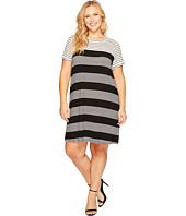 Calvin Klein Plus - Plus Size Striped T-Shirt Dress