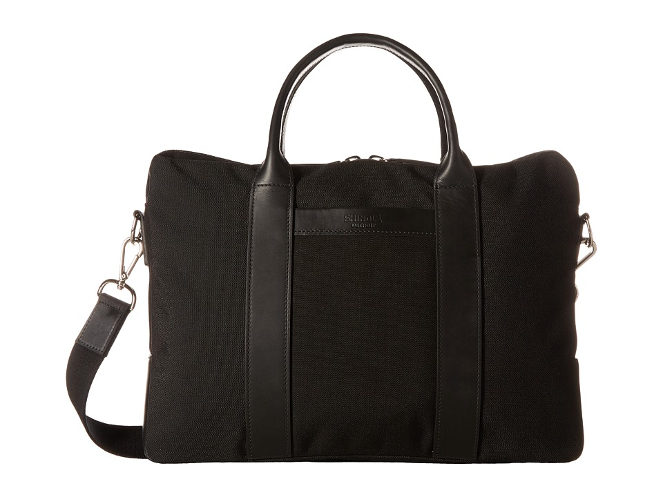 Shinola Detroit Nylon Computer Brief (Black/Black) Computer Bags