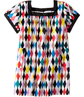 Sonia Rykiel Kids - Harlequin Printed Short Sleeve A-Line Dress w/ Pockets (Big Kids)