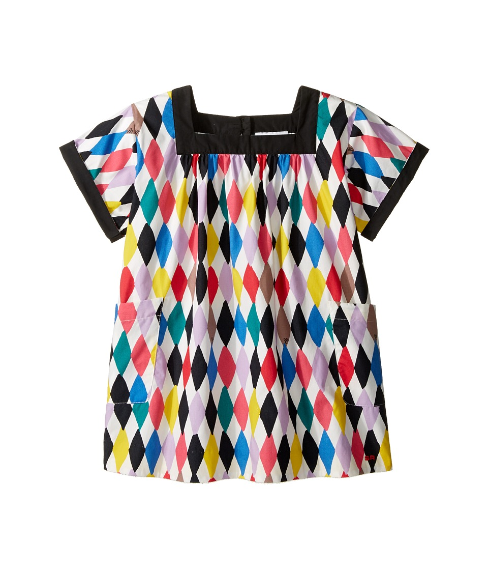 Sonia Rykiel Kids - Harlequin Printed Short Sleeve A-Line Dress w/ Pockets