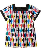 Sonia Rykiel Kids - Harlequin Printed Short Sleeve A-Line Dress w/ Pockets (Toddler/Little Kids)