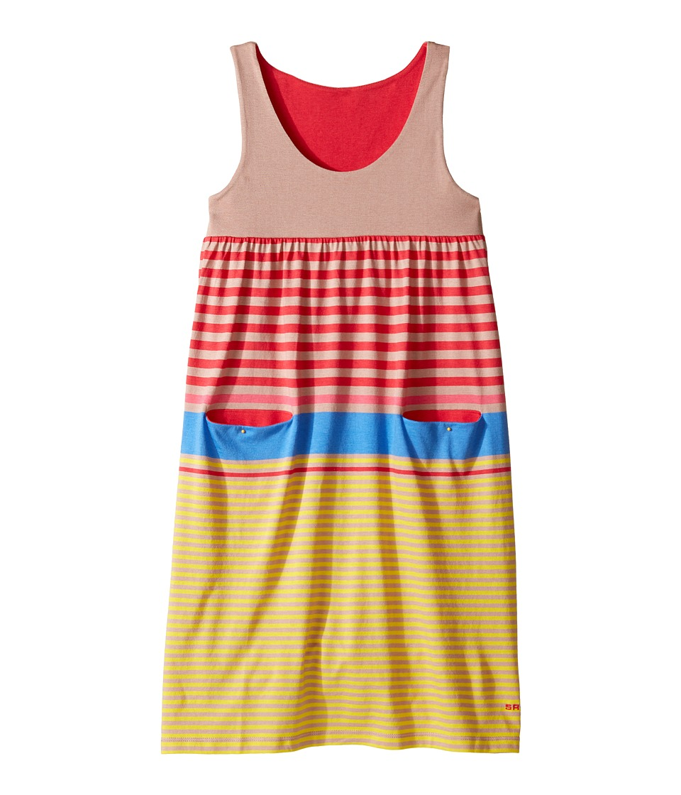 Sonia Rykiel Kids - Sleeveless Striped Dress w/ Pom Pom Detail