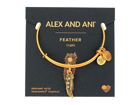 Alex and Ani Path of Symbols - Feather II Bangle - Rafaelian Gold