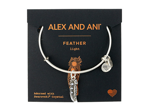 Alex and Ani Path of Symbols - Feather II Bangle - Rafaelian Silver