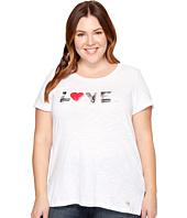 MICHAEL Michael Kors - Plus Size Love Logo Tee