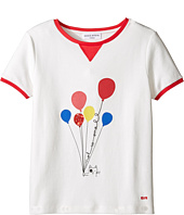 Sonia Rykiel Kids - Short Sleeve Balloon Graphic T-Shirt w/ Contrast Trim (Big Kids)