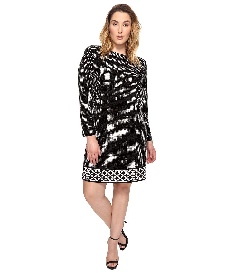 MICHAEL Michael Kors Plus Size Nezla Border Dress (Black) Women