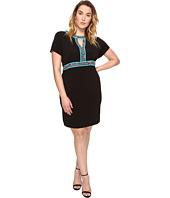 MICHAEL Michael Kors - Plus Size Border Print Combo Dress