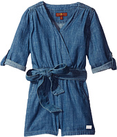 7 For All Mankind Kids - Romper in Beach Blue (Big Kids)