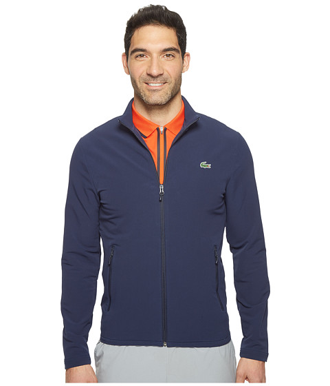 Lacoste Golf Full Zip Double Face Stretch Twill Sweatshirt