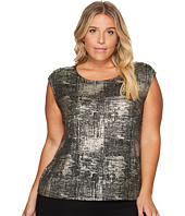 Calvin Klein Plus - Plus Size Foiled Metallic Top