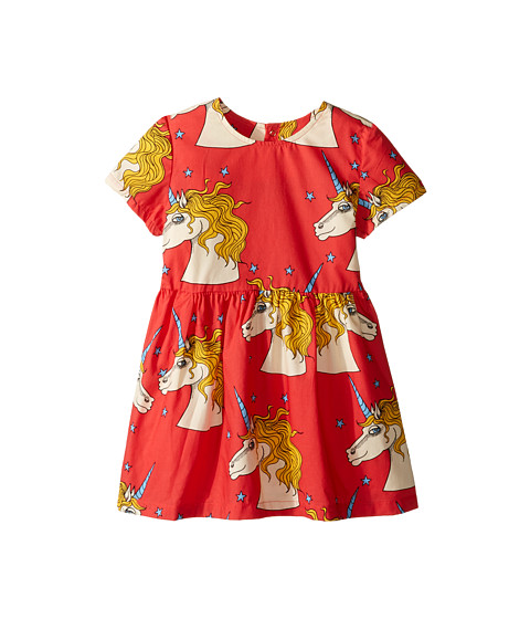 mini rodini Unicorn Star Woven Dress (Infant/Toddler/Little Kids/Big Kids)