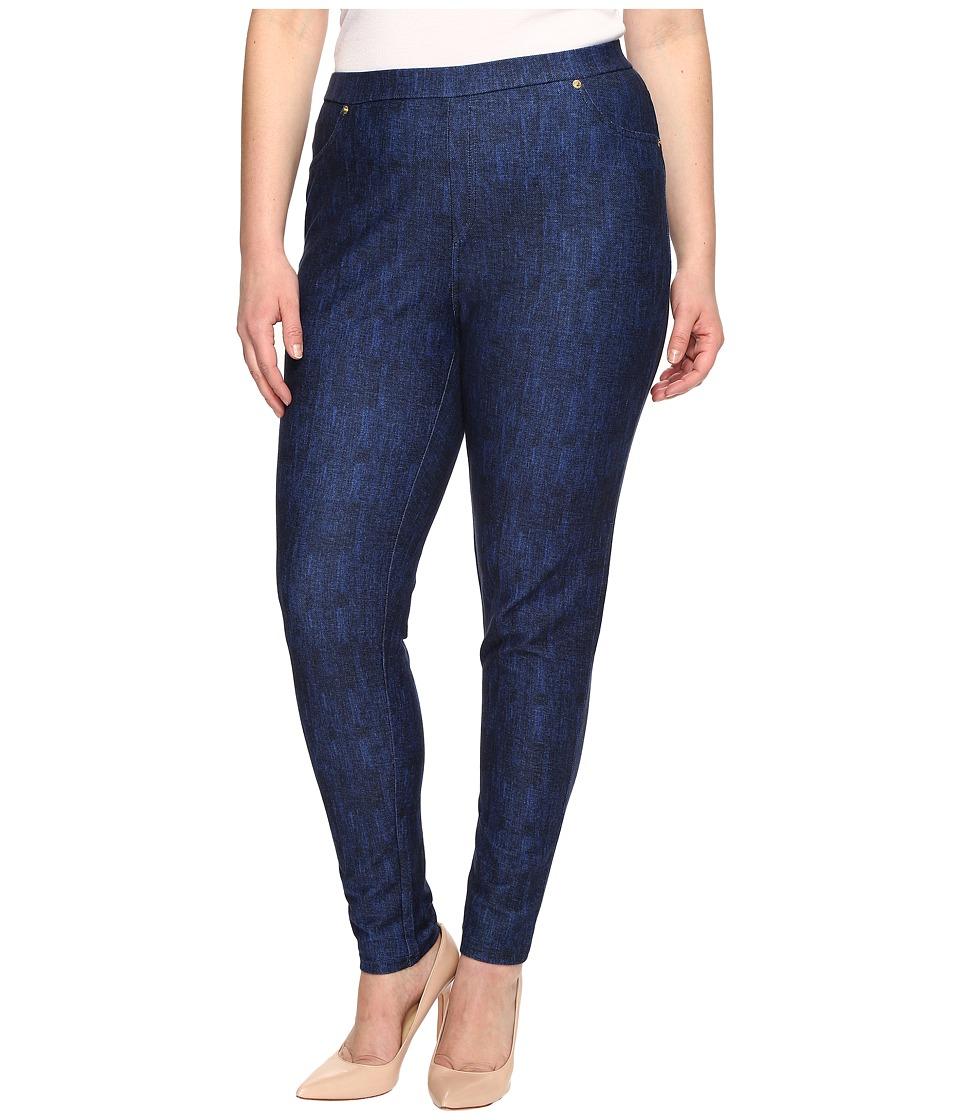 MICHAEL Michael Kors Plus Size Denim Pull-On Leggings in Blue Indigo (Blue Indigo) Women
