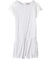 7 For All Mankind Kids - Romper with Lace Sleeve (Big Kids)