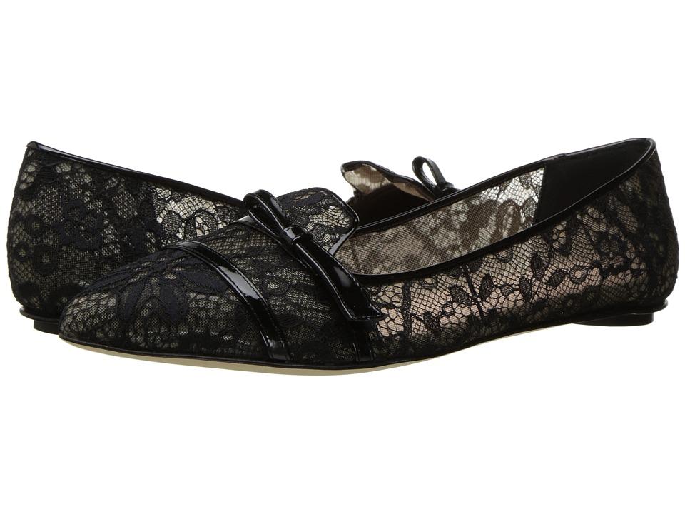 Oscar de la Renta Maisie (Black Lace/Patent Leather) Women