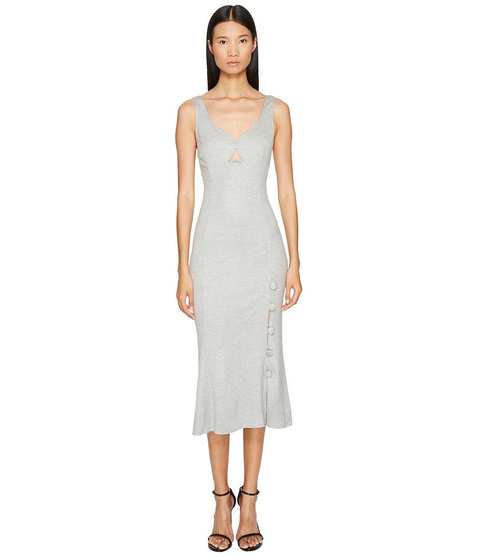 Prabal Gurung - Jersey Sweetheart Neck Flare Skirt Dress (Grey) Womens Dress