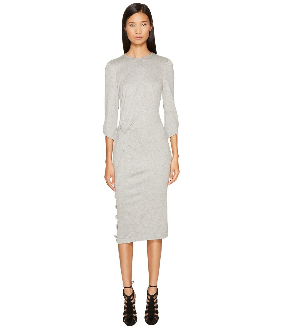Prabal Gurung - Jersey 3/4 Sleeve Dress (Grey) Womens Dress