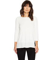 Ivanka Trump - Long Sleeve Matte Jersey with Georgette Hem
