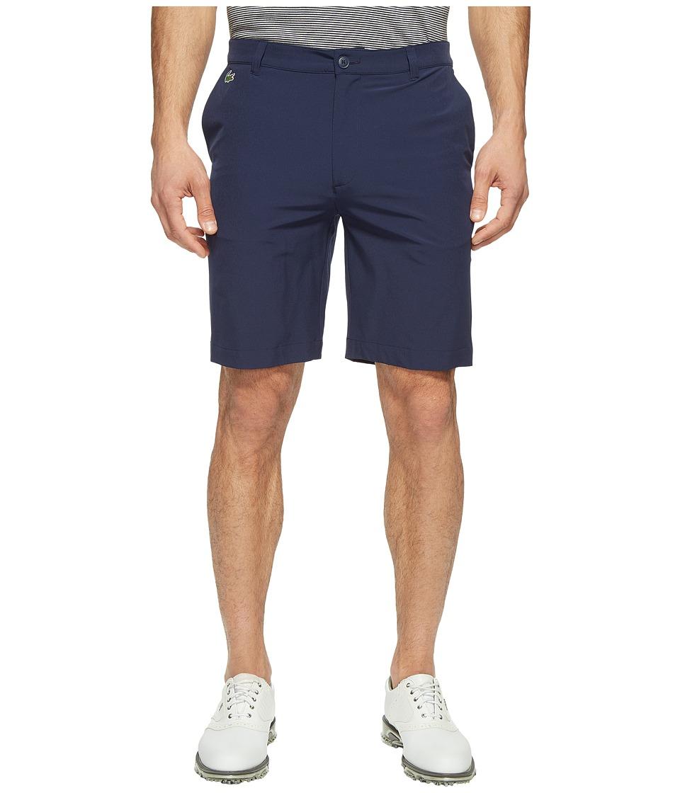 Lacoste Golf Solid Stretch Bermuda (Navy Blue) Men