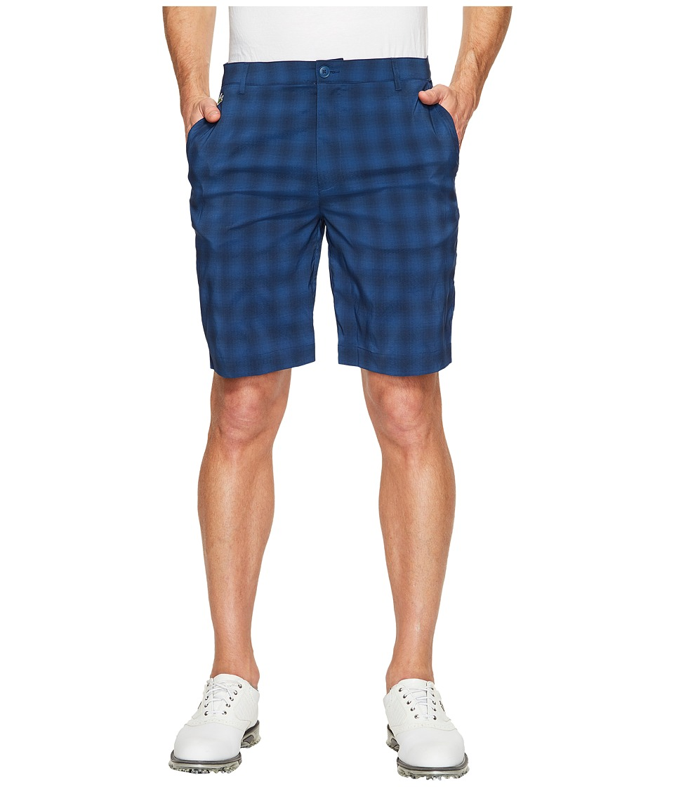 Lacoste Golf Check Stretch Bermuda (Navy Blue/Cobalt) Men