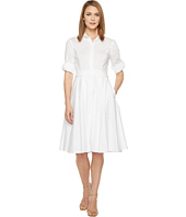 Ivanka Trump - Cotton Flare Pleated Dress