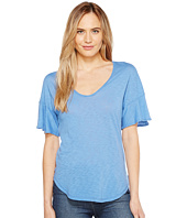 Splendid - V-Neck Flutter Sleeve Top