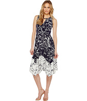 Ivanka Trump - Printed Matte Jersey with Handkerchief Hem
