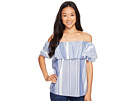 Ivanka Trump - Wide Striped Double Layer Top