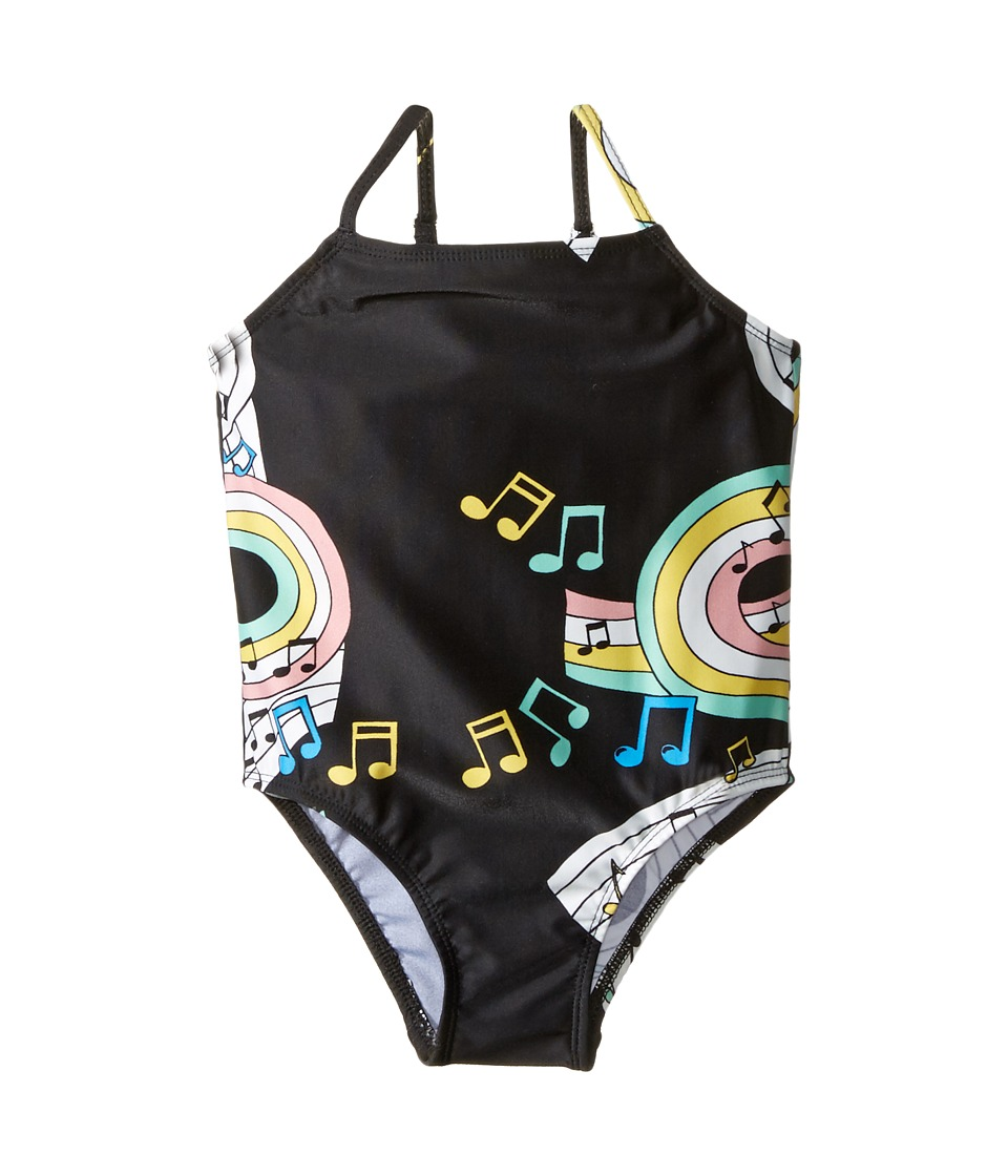 mini rodini - Melody Swimsuit (Infant/Toddler/Little Kids/Big Kids) (Black) Girls Swimsuits One Piece