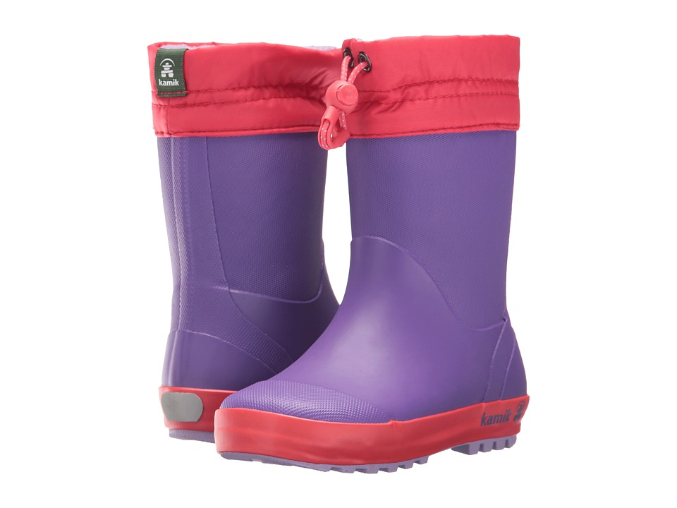 Kamik Kids Drizzly (Infant/Toddler/Little Kid) (Purple) Girl's Shoes
