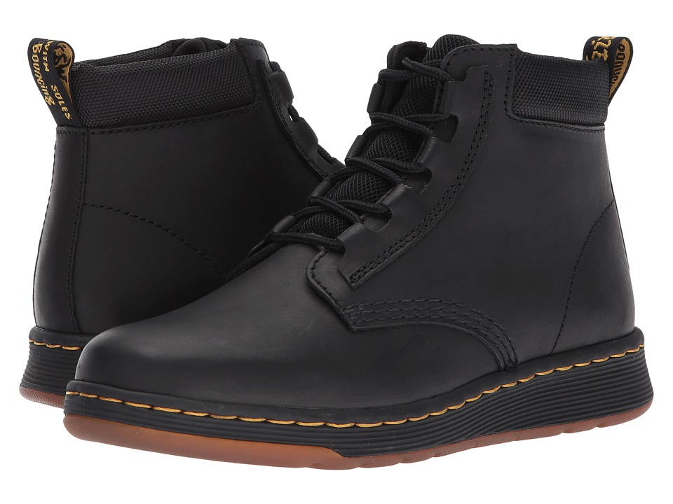 Dr. Martens Telkes Padded Collar Boot (Black Temperley/Black Sport Spacer Mesh) Women