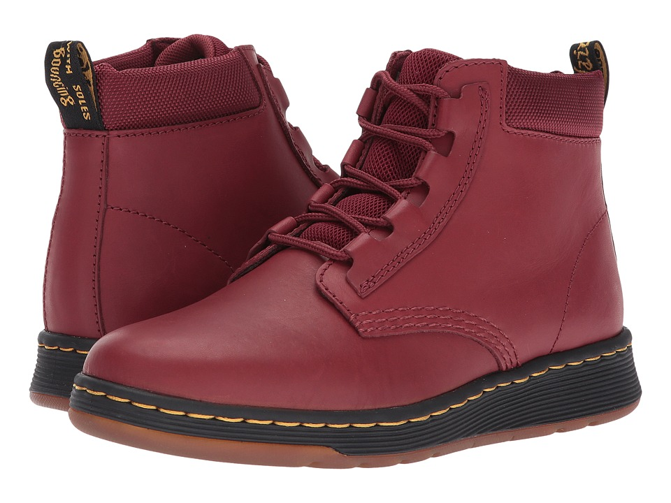 Dr. Martens Telkes Padded Collar Boot (Cherry Red Temperley/Cherry Red Sport Spacer Mesh) Women