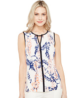 Ivanka Trump - Printed Matte Jersey with Hardware