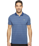 Lacoste - Golf Fine Stripe Ultra Dry Pique Knit