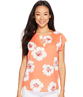 Ivanka Trump - Over Sized Floral Cap Sleeve Top