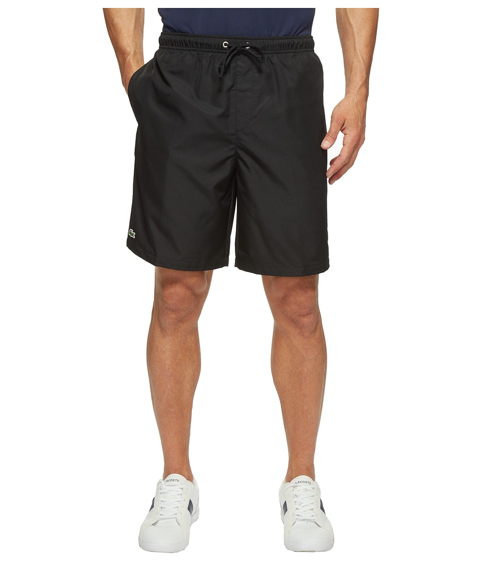 Lacoste Sport Lined Tennis Shorts (Black) Men