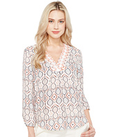 Ivanka Trump - Long Sleeve Printed Floral Georgette Blouse