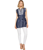 Ivanka Trump - Denim Embroidered Tunic