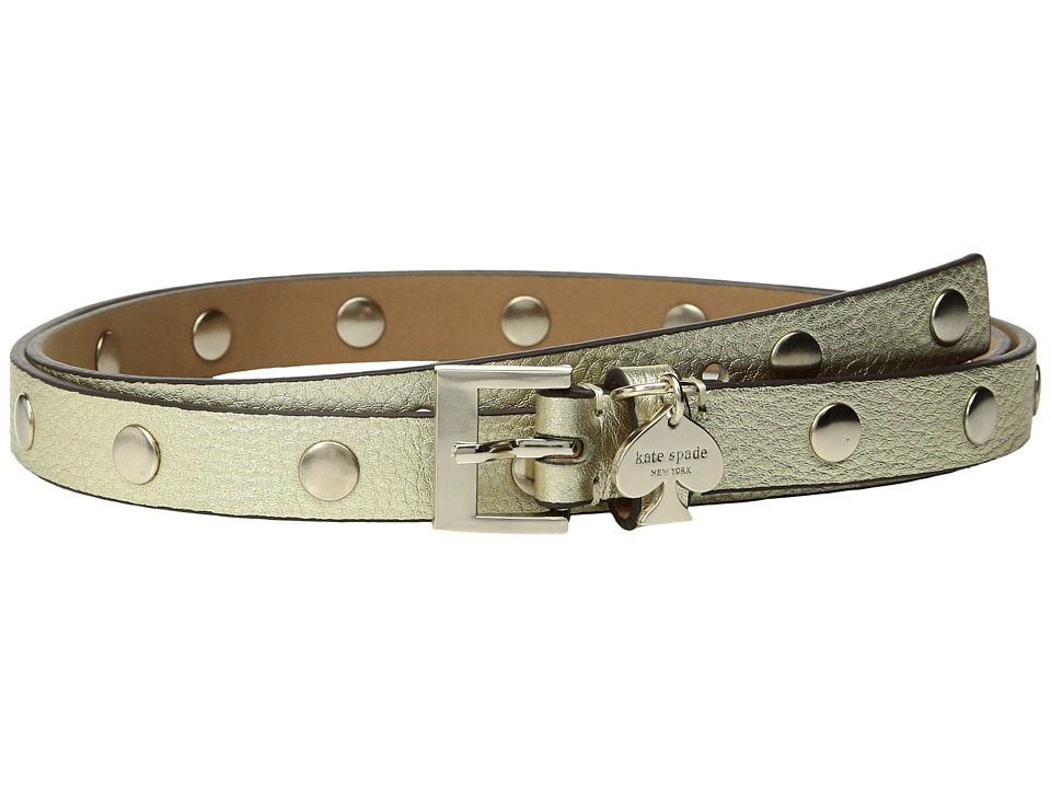 Kate Spade New York - 1/2 Pebble Studded Belt w/ Spade Charm Drop
