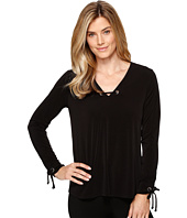 Ivanka Trump - Long Sleeve Matte Jersey Top with Hardware