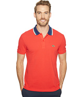 Lacoste - Short Sleeve Semi-Fancy Bold Stripe Collar Polo Regular