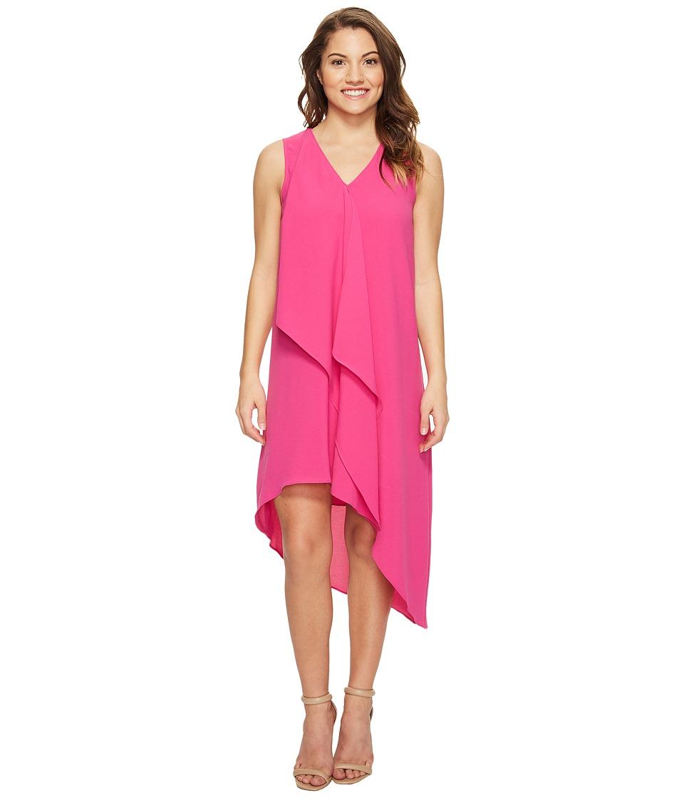 Adrianna Papell - Petite Asymmetrical Front Drape Dress